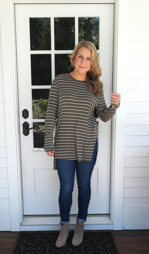 stripes, nordstrom, booties, jeans, style, fashion