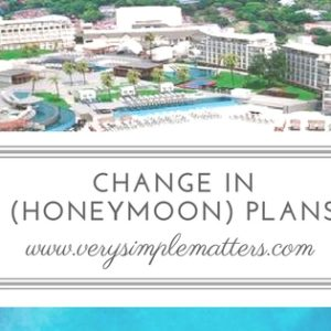 Change In (honeymoon) Plans